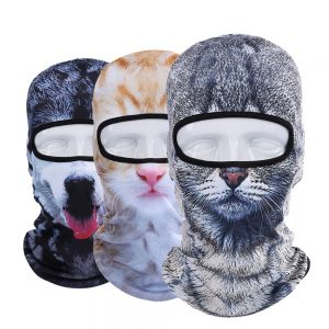 snowboard animal ski mask